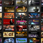 Steam Library of game titles