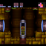 Samus in tube in Super Metroid 7