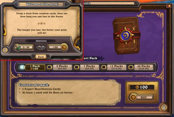 Hearthstone screen shot