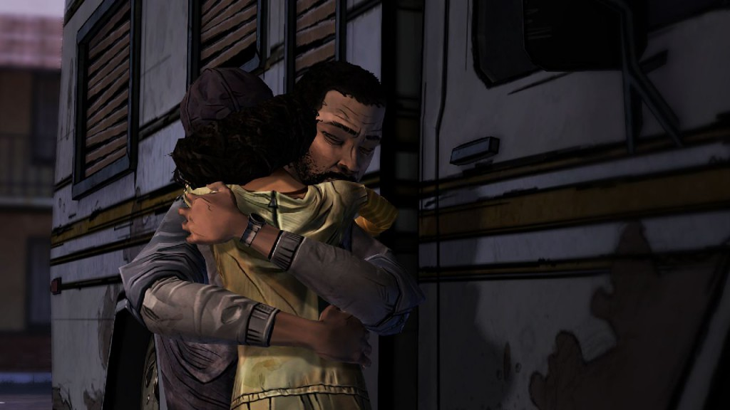 Screen shot from The Walking Dead video game
