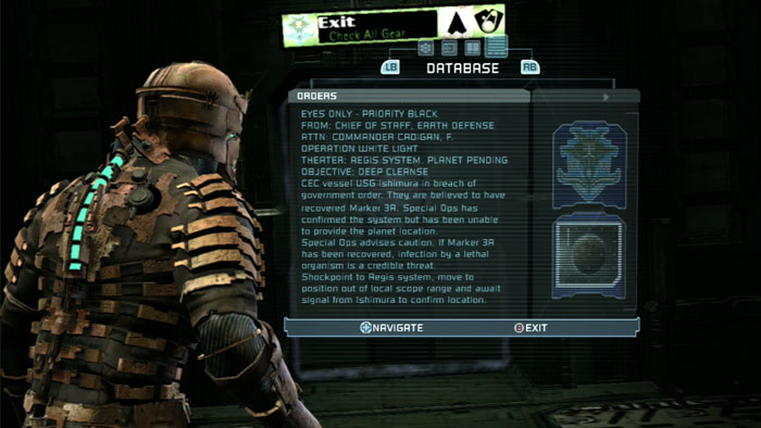 Dead Space text box