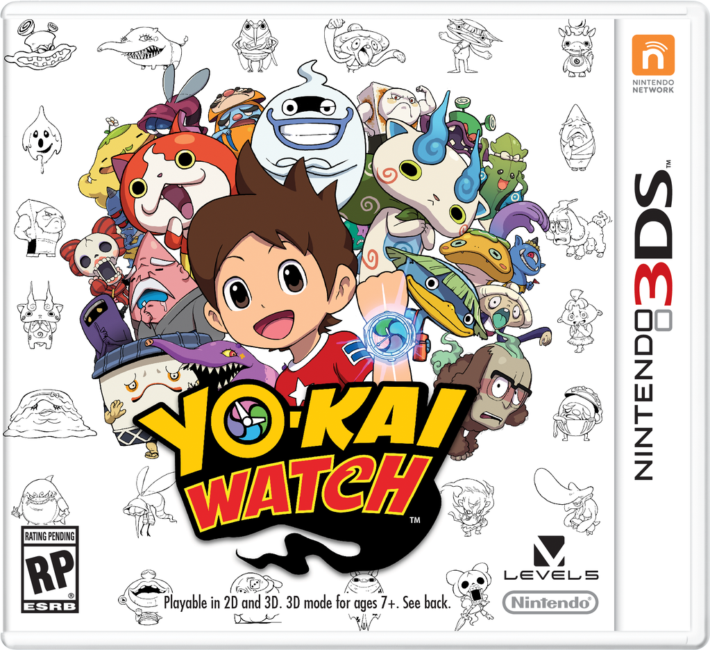 Yokai Watch gameboy DS game cover