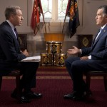Brian Williams interviewing Mitt Romney