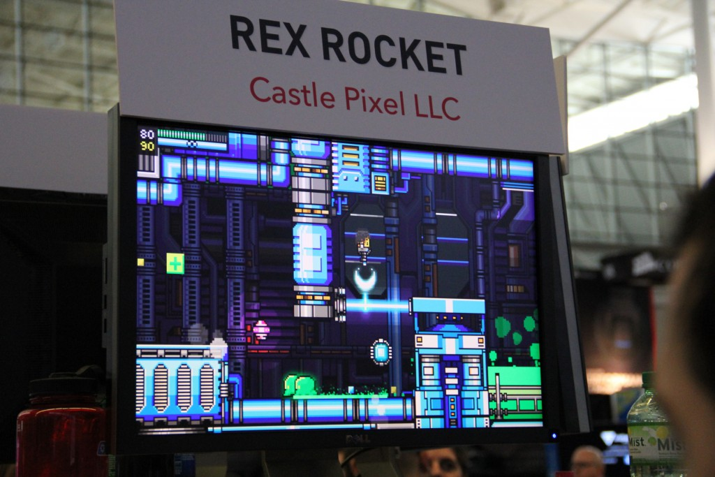 Rex Rocket at game convention