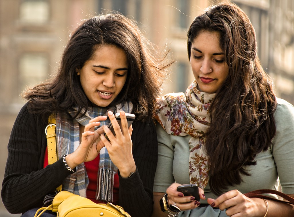 Now, instead of texting each other,  you can text other people.