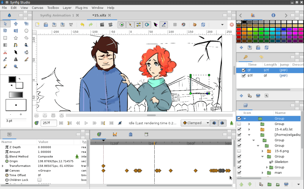 synfig animation software