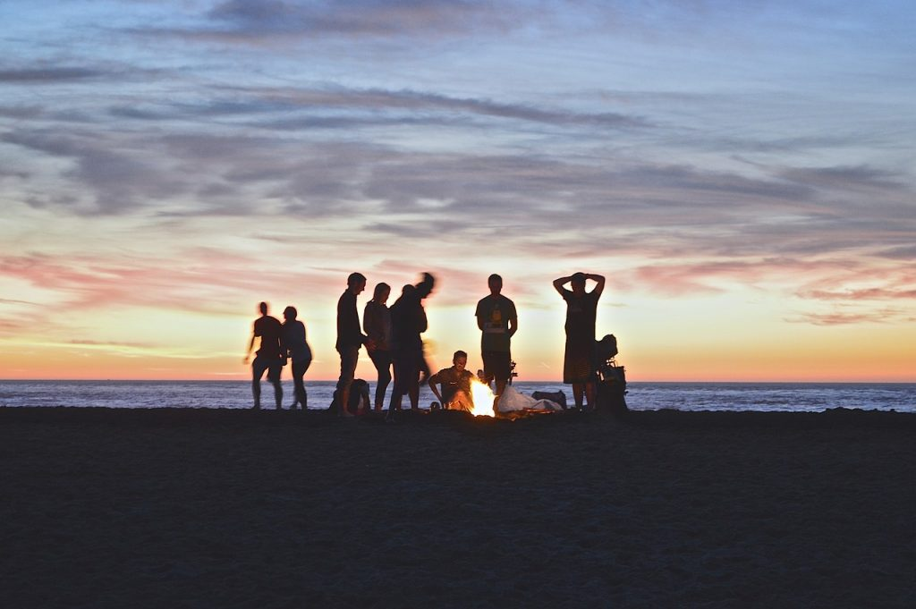 Summer Camp Campfire Beach