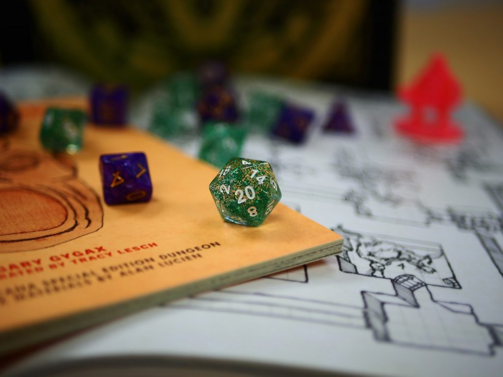 dice board game dungeons & dragons