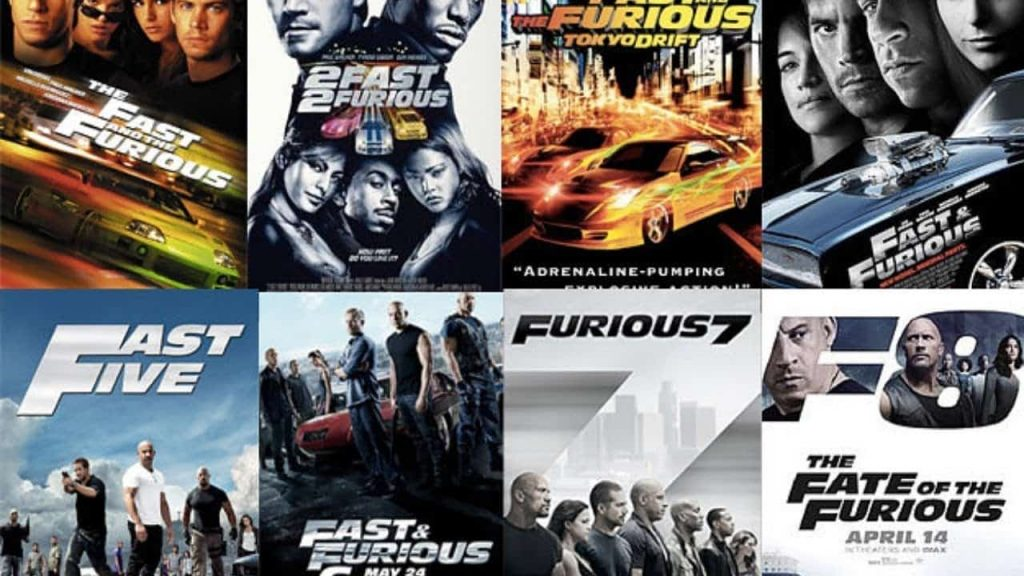 Fast and Furious movie posters