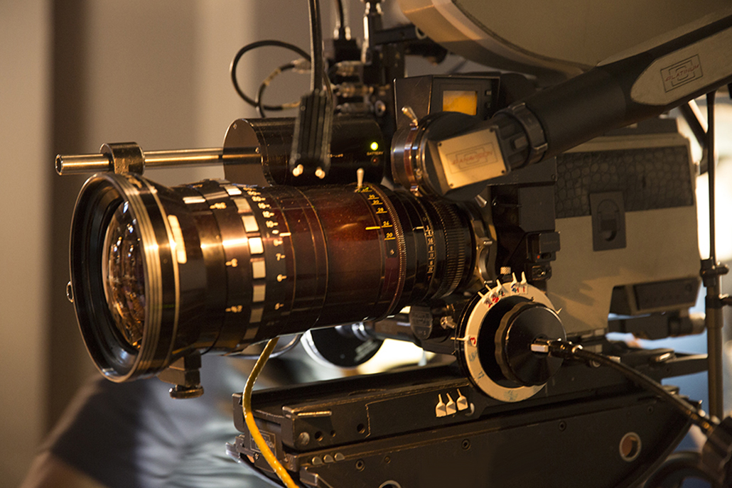 Close-up of Panavision camera