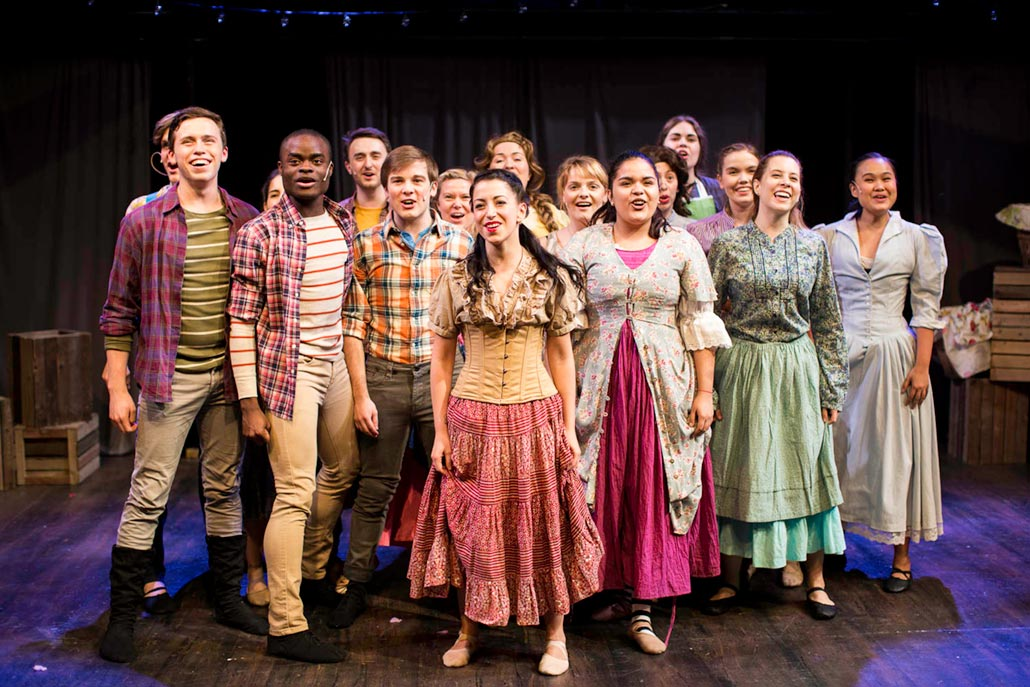 stage performance of carousel at nyfa