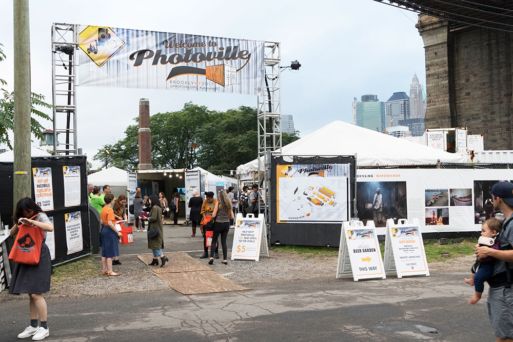 Entrance to Photoville event