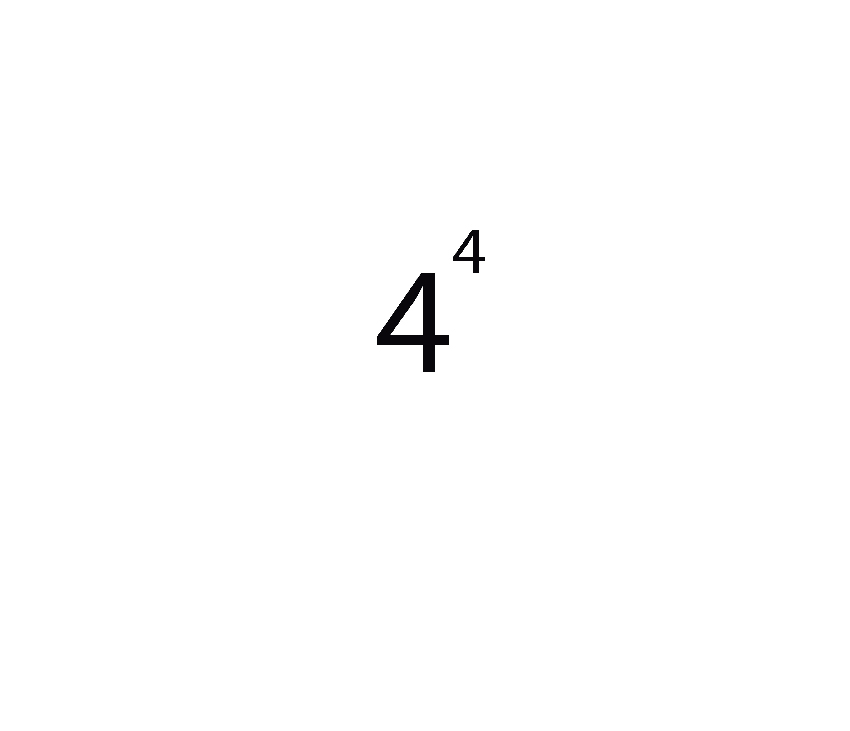 The number 4 raised to the power of 4