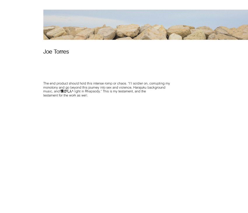 Banner of rocks with horizon line