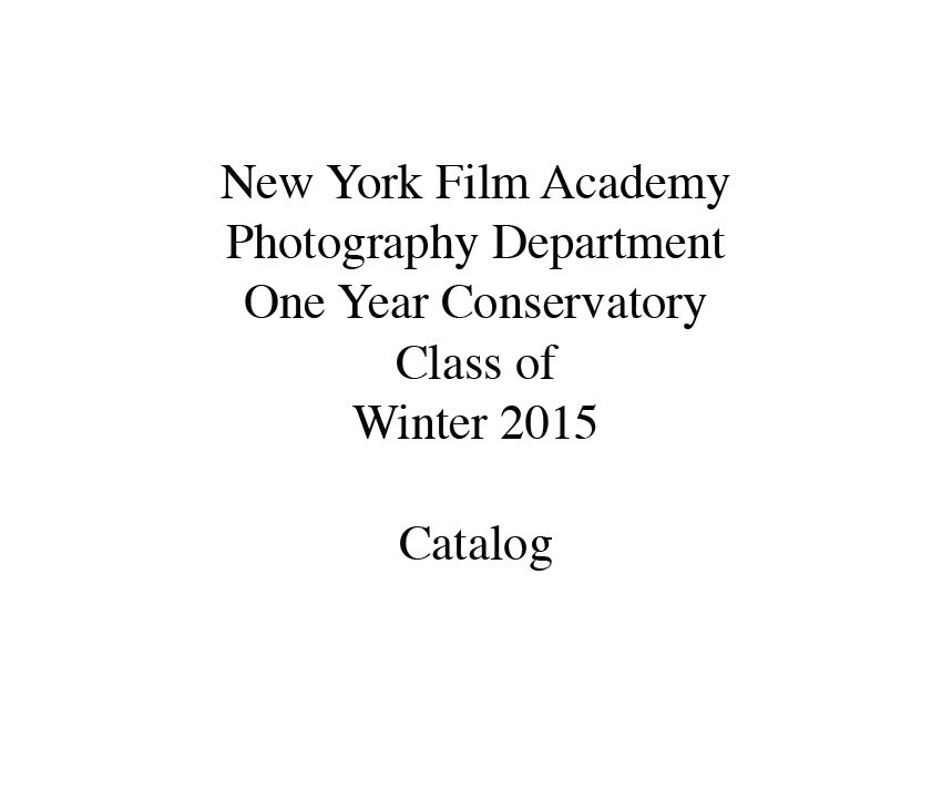 New York Film Academy Photography Department Catalog