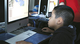 Kid in NYFA's Kids 3D Animation Summer Camp