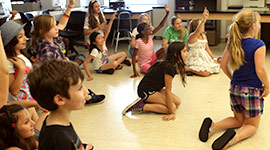 Kids in NYFA's Acting Camp