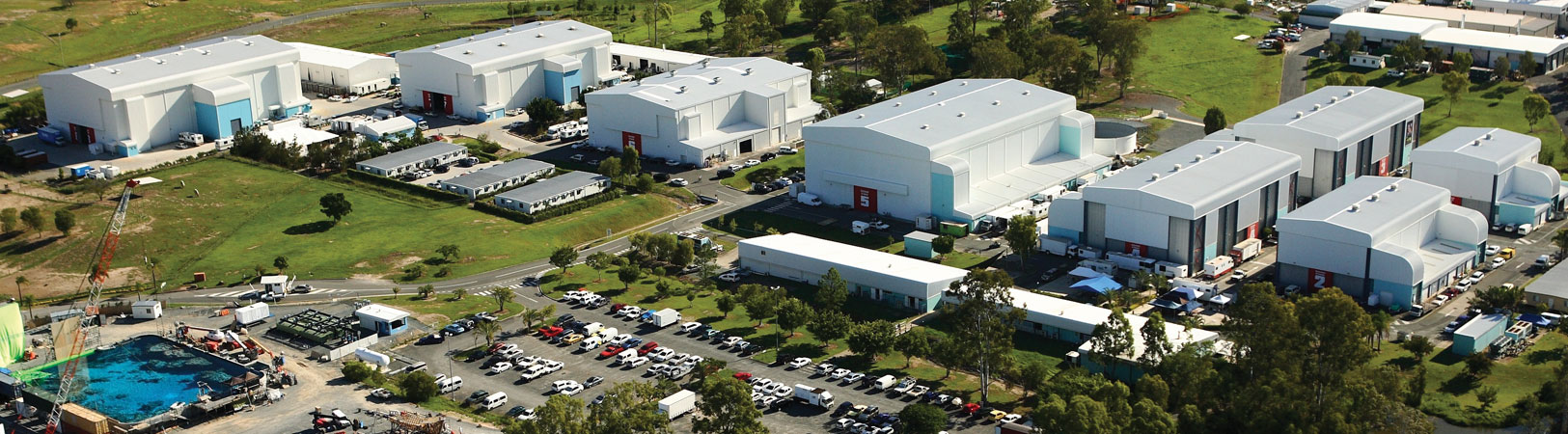 Aerial view of the Gold Coast location of NYFA