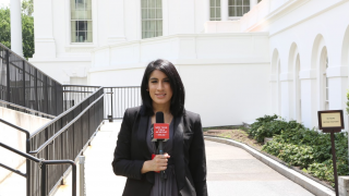 Broadcast Journalism Student Alisa Rajkitkul at Arlington National Cemetery