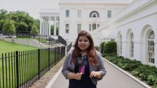 Broadcast Journalism Student Urvashi Barua at the White House